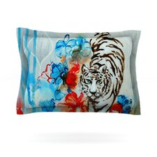 Tiger by Sonal Nathwani Cotton Pillow Sham