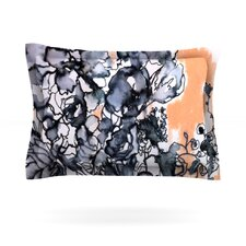 Inky Bouquet by Sonal Nathwani Cotton Pillow Sham