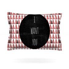 I Want You by Skye Zambrana Woven Pillow Sham