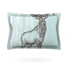 Elk Scene by Sam Posnick Woven Pillow Sham