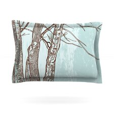 Winter Trees by Sam Posnick Woven Pillow Sham
