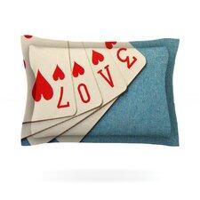Love by Skye Zambrana Cotton Pillow Sham
