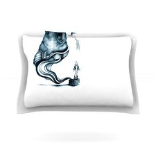 Hot Tub Hunter by Graham Curran Woven Pillow Sham