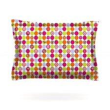 Happy Circles by Julia Grifol Cotton Pillow Sham