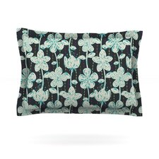 My Gray Spotted Flowers by Julia Grifol Cotton Pillow Sham