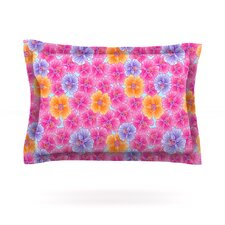 My Pink Garden by Julia Grifol Woven Pillow Sham