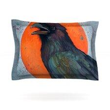 Raven Sun by Lydia Martin Woven Pillow Sham
