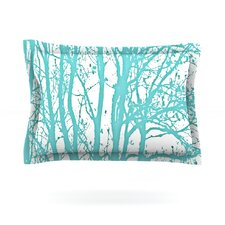 Mint Trees by Monika Strigel Cotton Pillow Sham