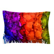 Rainbow Splatter by Claire Day Cotton Pillow Sham
