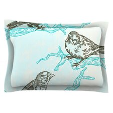 Birds in Trees by Sam Posnick Cotton Pillow Sham