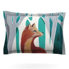 Fox Forest by Lydia Martin Cotton Pillow Sham