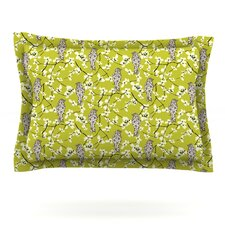 Blossom Bird by Julie Hamilton Cotton Pillow Sham