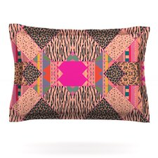 New Wave Zebra by Vasare Nar Cotton Pillow Sham