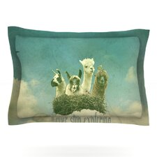 Never Stop Exploring by Monika Strigel Woven Pillow Sham