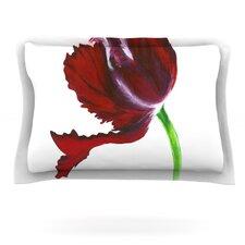 Dark Purple Tulip by Lydia Martin Cotton Pillow Sham