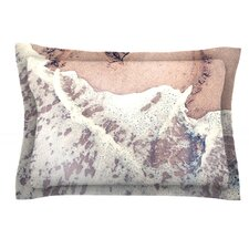 Heart in the Sand by Nastasia Cook Cotton Pillow Sham