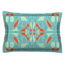 Seafoam and Orange by Miranda Mol Cotton Pillow Sham