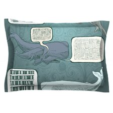 Whale Talk by Sophy Tuttle Cotton Pillow Sham