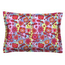 My Folk Flowers by Julia Grifol Woven Pillow Sham