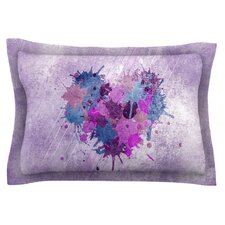 Painted Heart by Nick Atkinson Cotton Pillow Sham
