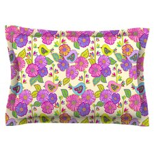 My Birds and My Flowers by Julia Grifol Cotton Pillow Sham