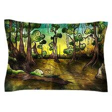 Aligator Swamp by Mandie Manzano Cotton Pillow Sham