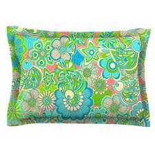 Welcome Birds to my Garden by Julia Grifol Woven Pillow Sham