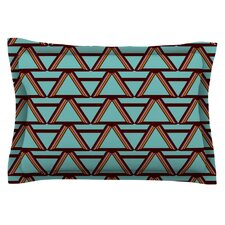 Deco Angels Choco Mint by Nina May Cotton Pillow Sham