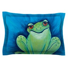 Ribbit Ribbit by Padgett Mason Woven Pillow Sham