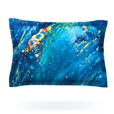 Big Wave by Theresa Giolzetti Woven Pillow Sham