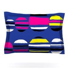 Retro Circles by Emine Ortega Cotton Pillow Sham