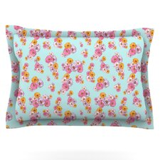 Paper Flower by Laura Escalante Woven Pillow Sham