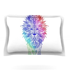 Rainbow Lion by Monika Strigel Woven Pillow Sham
