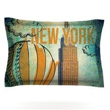 New York by iRuz33 Woven Pillow Sham