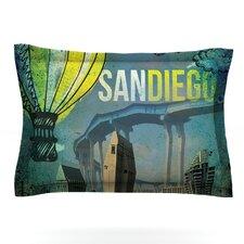 San Diego by iRuz33 Woven Pillow Sham