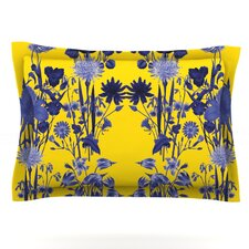 Bloom Flower by Debora Chodik Woven Pillow Sham