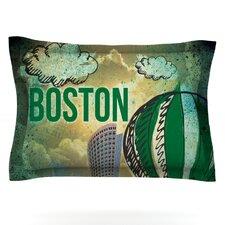 Boston by iRuz33 Woven Pillow Sham