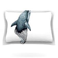 Shark Record by Graham Curran Woven Pillow Sham