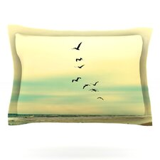 Across The Endless Sea by Robin Dickinson Woven Pillow Sham