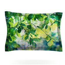 Leaves by Sylvia Cook Woven Pillow Sham