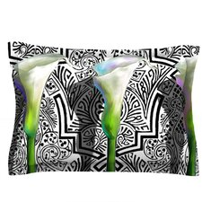 Three Lily by S. Seema Z Woven Pillow Sham