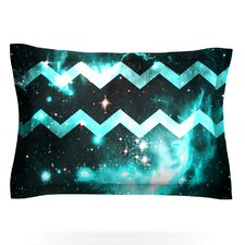 Blue Star Chevron by Caleb Troy Woven Pillow Sham