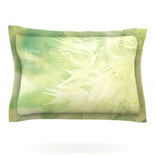 Love You More by Robin Dickinson Woven Pillow Sham