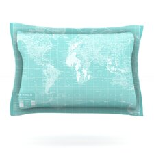 Welcome to my World by Catherine Holcombe Woven Pillow Sham