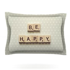 Be Happy by Cristina Mitchell Woven Pillow Sham