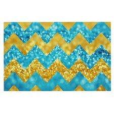 Blueberry Twist by Beth Engel Chevron Decorative Doormat