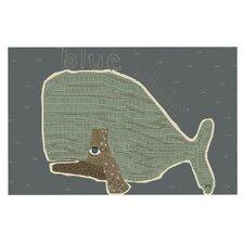 Whale by Bri Buckley Decorative Doormat