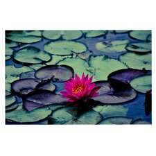 Twilight by Ann Barnes Water Lily Decorative Doormat