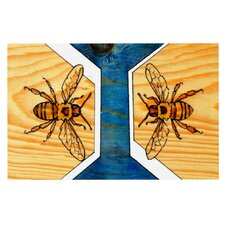 Bees by Brittany Guarino Decorative Doormat