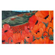 Poppies by Christen Treat Decorative Doormat